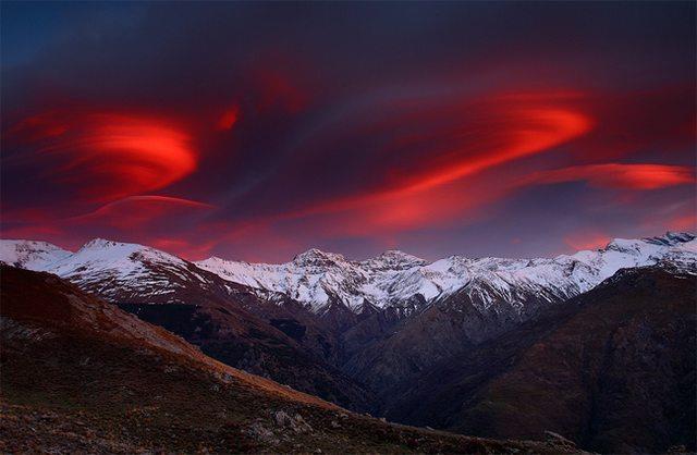 عکس ، طبیعت ، بکر ، آسمان سرخ ، هنری،جدید